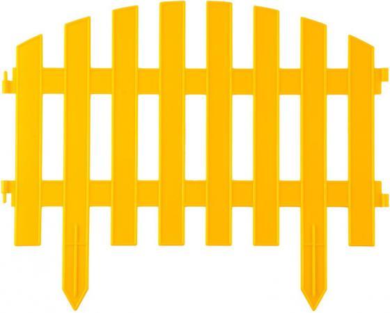 Забор декоративный GRINDA АР ДЕКО, 28x300 см, желтый [422203-Y] забор декоративный grinda 422267
