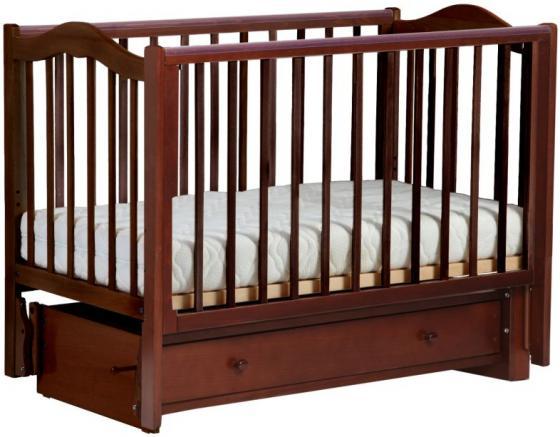 Кроватка с маятником Кубаночка-1 БИ 37 (орех темный 35) кровать с маятником mibb tender noce antico swing walnut темный орех li003rna