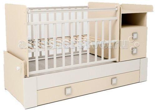 Кроватка с маятником СКВ 830035-1 (береза+белый) кроватка скв березка 121115 береза
