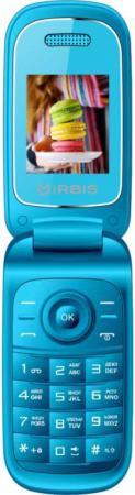 Мобильный телефон IRBIS SF15 1.77/128x160/cam 0.08MPx/2xSimCard/Bluetooth/microUSB/MicroSD/Голубой мобильный телефон irbis sf61 черный