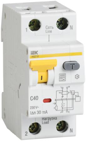 Iek MAD22-5-040-C-30 АВДТ 32 C40 30мА - Автоматический Выключатель Дифф. тока