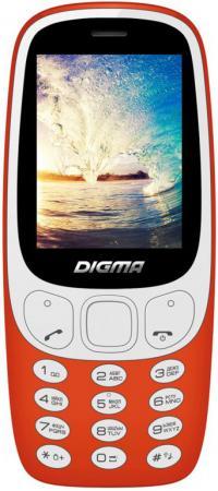 Мобильный телефон Digma N331 2G Linx 32Mb красный моноблок 2Sim 2.44 128x160 0.08Mpix BT GSM900/1800 FM microSD max16Gb