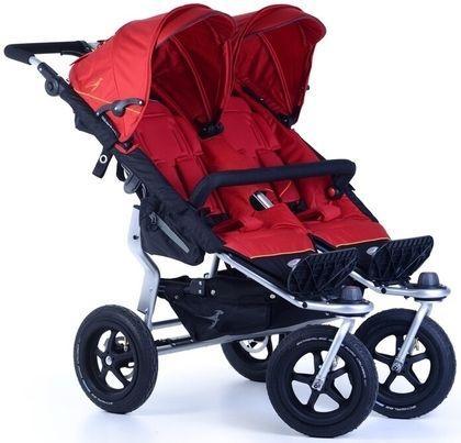 Прогулочная коляска для двойни TFK Twin Adventure (345/tango red) прогулочная коляска для двойни tfk twin trail 333 twilight blue