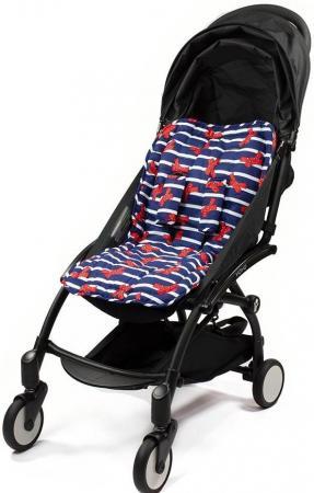 Матрасик Choopie для коляски с чехлами на ремни CityLiner (french bows) матрасик choopie для коляски с чехлами на ремни cityliner polka dot