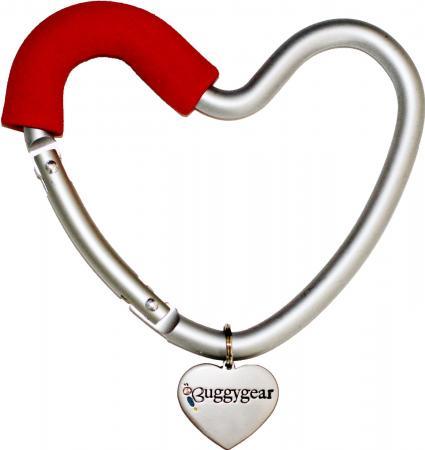 Крепление для сумок Buggygear Сердечко (silver/red)