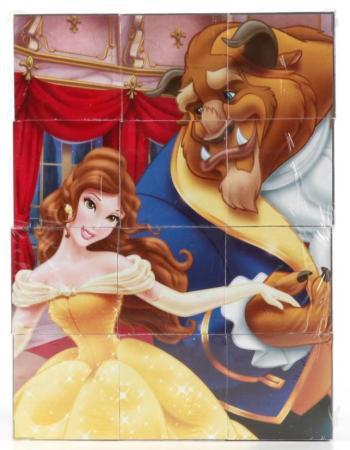 Набор кубиков ИГРАЕМ ВМЕСТЕ Принцессы 12 шт игрушечная посуда играем вместе набор посуды принцессы