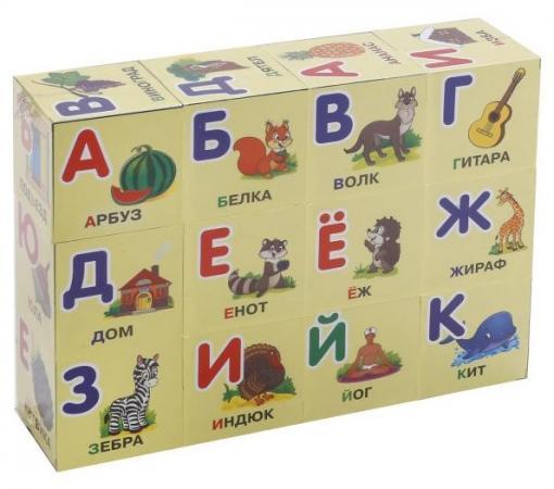 Набор кубиков ИГРАЕМ ВМЕСТЕ Азбука 12 шт играем вместе кубики winx 6 кубиков деревянные играем вместе