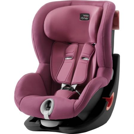 Автокресло Britax Romer King II Black Series (wine rose trendline)