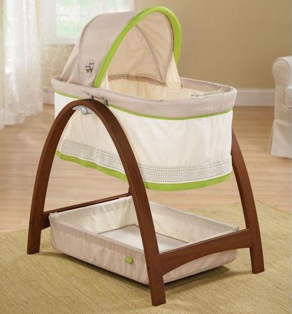 Колыбель-люлька Summer Infant Bentwood (темное дерево) стульчик для кормления summer infant bentwood темное дерево