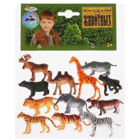 Набор фигурок ИГРАЕМ ВМЕСТЕ Набор из 12 диких животных 5 см
