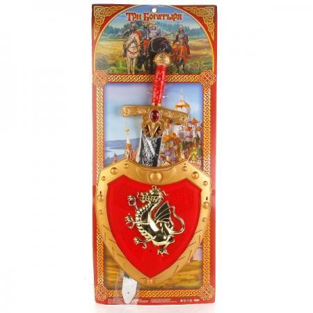 Набор оружия Играем вместе ТРИ БОГАТЫРЯ красный золотистый B1214849-R1 (24) играем вместе лук три богатыря со стрелами на присосках