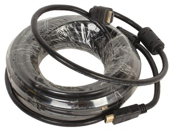 Кабель HDMI 10м Jet.A JA-HD8 круглый черный кабель lightning 1м wiiix круглый cb120 u8 10b