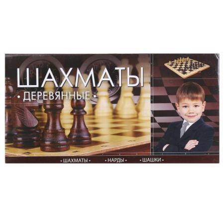 ШАХМАТЫ ИГРАЕМ ВМЕСТЕ ДЕРЕВЯННЫЕ В РУСС. КОР. в кор.144шт настольные игры играем вместе магнитные шахматы 3 в 1 g049 h37005r