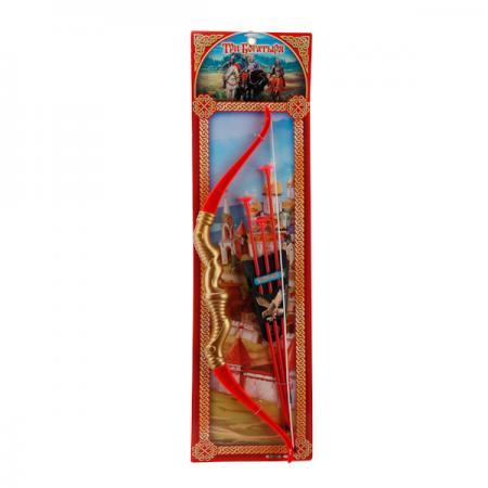 Лук Играем вместе ЛУК СО СТРЕЛАМИ НА ПРИСОСКАХ красный золотистый B289070-R3 мини лук zing с двумя стрелами на присосках as911
