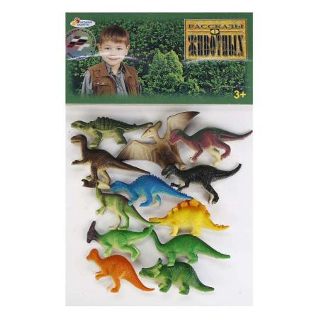 Набор фигурок ИГРАЕМ ВМЕСТЕ Набор из 12-и динозавров 6 см