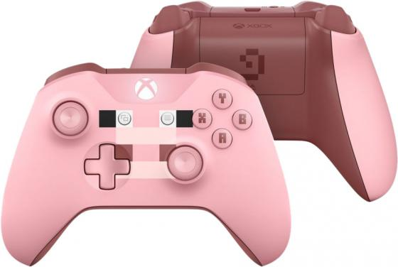 Геймпад Беспроводной Microsoft MINECRAFT PIG розовый для: Xbox One (WL3-00053) геймпад игра microsoft xbox one wireless controller gears of war ultimate edition