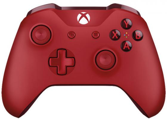 Геймпад Беспроводной Microsoft WL3-00028 красный для: Xbox One геймпад microsoft xbox one controller minecraft creeper wl3 00057
