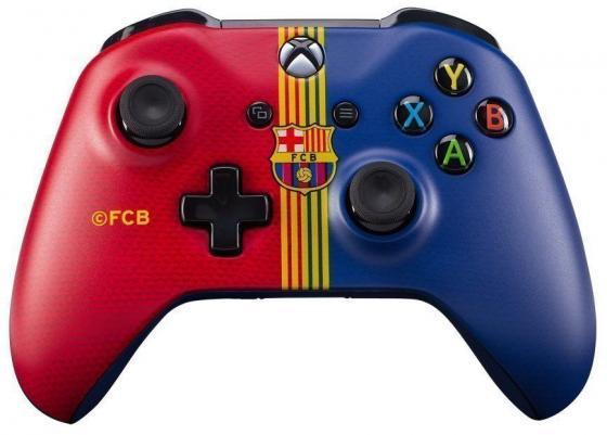цена на Геймпад Беспроводной Microsoft ФК Барселона красный/синий для: Xbox One (TF5-00004-FCB)