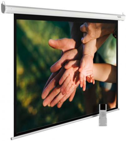 лучшая цена Экран Cactus 280x280см MotoExpert CS-PSME-280x280-WT 1:1 настенно-потолочный рулонный белый (моторизованный привод)