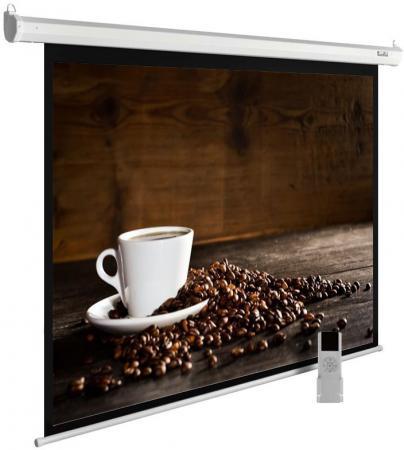 Экран Cactus 300x300см MotoExpert CS-PSME-300x300-WT 1:1 настенно-потолочный рулонный белый (моторизованный привод) цена и фото