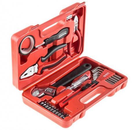 Набор инструментов Hammer Flex 601-040 25 предметов в кейсе набор инструментов универсальный koruda в кейсе 45 предметов kr tk45
