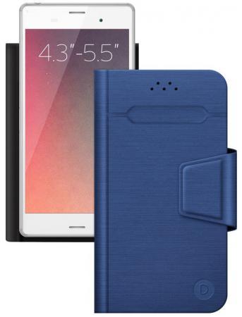 Чехол Deppa -подставка для смартфонов Wallet Fold M 4.3''-5.5'', синий зонт antiuv chuva 039 st 039