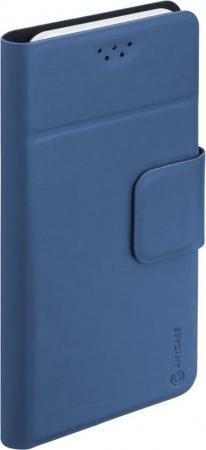 Чехол Deppa Чехол универсальный Wallet для смартфонов 5.5''-6.5'', синий, Anycase