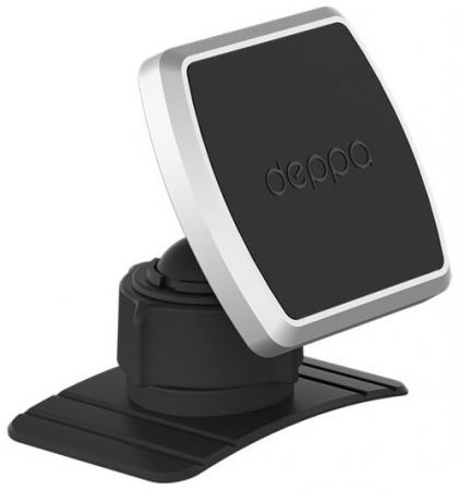 Подставка для телефона Deppa Mage Mount для смартфонов, магнитный, крепление на приборную панель, черный, держатель deppa mage one магнитный черный для смартфонов 55151