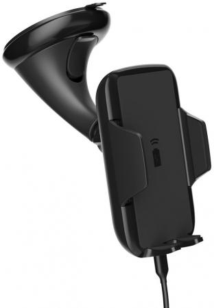 цена на Подставка для телефона Deppa Crab Qi для смартфонов 3.5-5.9, крепление на лобовое стекло и вентиляционную решетку, Deppa