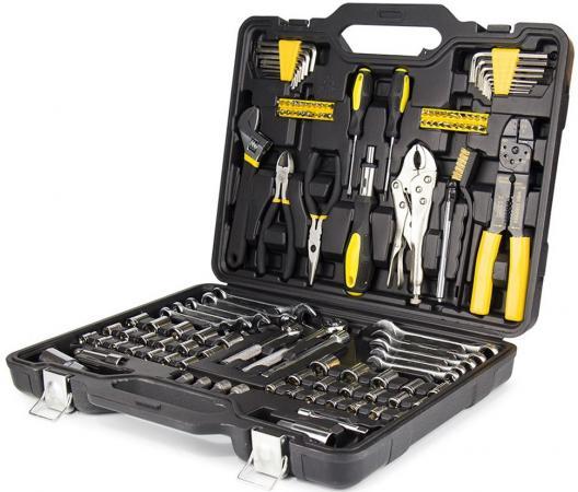 все цены на Набор ручного инструмента KOLNER KTS 123 в пластиковом кейсе123пр