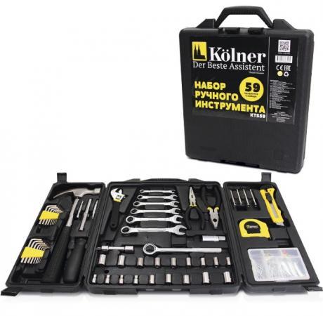 все цены на Набор ручного инструмента KOLNER KTS 59 59пр, в кейсе