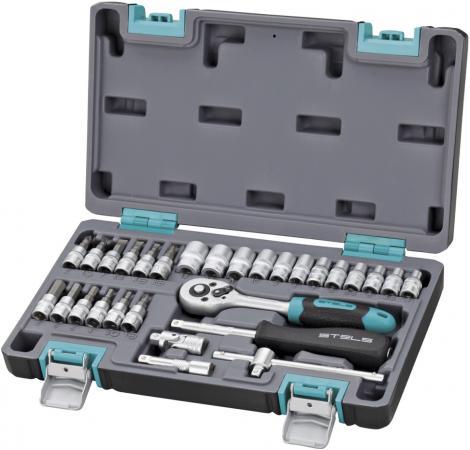 Набор инструментов STELS 14100 1/4 CrV пластиковый кейс 29 предм.