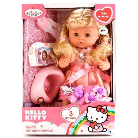 купить Игровой набор КАРАПУЗ Hello Kitty 40 см пьющая писающая по цене 2171 рублей