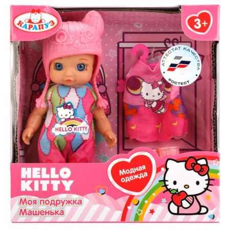 Кукла Карапуз Hello Kitty 12см, без звука, с доп. одеждой и аксесс., в ассорт. в кор. в кор.60шт YL1701A-RU-HK кукла карапуз hello kitty 11435 ru hello kitty