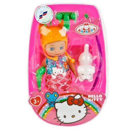 Кукла КАРАПУЗ HELLO KITTY С ВАННОЧКОЙ 12 см танцующая YL1701N-RU-HK (84) кукла tongde пупс с ванночкой 0912c 18 t112 d633