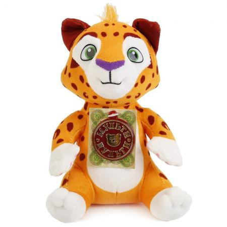 Мягкая игрушка тигр МУЛЬТИ-ПУЛЬТИ Лео 20 см белый оранжевый коричневый текстиль V39456/20 мягкая игрушка beanie boo s черепашка shellby цвет салатовый коричневый 40 5 см