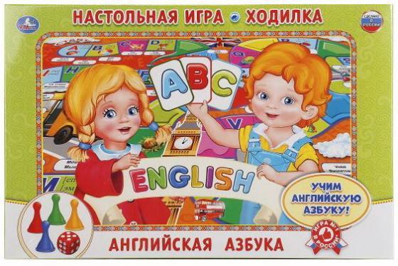 Настольная игра ходилка УМКА Английская азбука обучающая игра умка азбука hx1598 ba