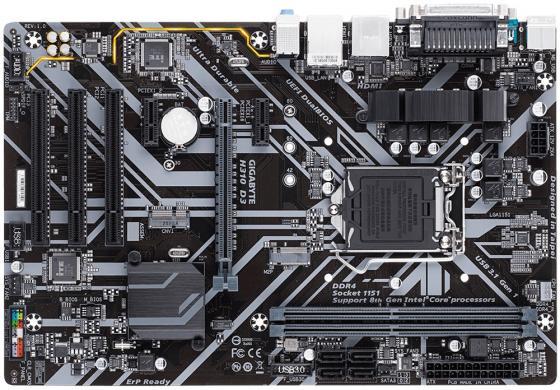 Материнская плата GigaByte H310 D3 Socket 1151 v2 H310 2xDDR4 1xPCI-E 16x 3xPCI 2xPCI-E 1x — ATX Retail