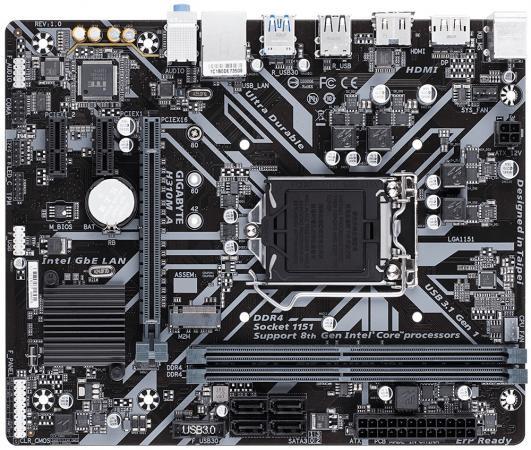 Материнская плата GigaByte H310M A Socket 1151 v2 H310 2xDDR4 1xPCI-E 16x 2xPCI-E 1x 4 mATX Retail материнская плата gigabyte h310m s2h socket 1151 v2 h310 2xddr4 1xpci e 16x 2xpci e 1x 4 matx retail