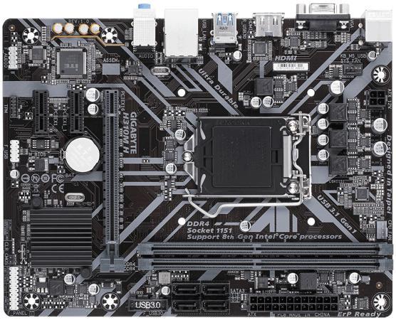 Материнская плата GigaByte H310M H Socket 1151 v2 H310 2xDDR4 1xPCI-E 16x 2xPCI-E 1x 4 mATX Retail материнская плата gigabyte ga h81m s1 v2 2 socket 1150 h81 2xddr3 1xpci e 16x 2xpci e 1x 2xsata ii 2xsataiii matx retail