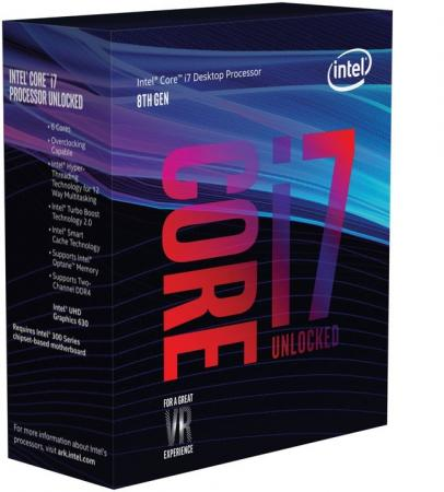 Процессор Intel Core i7-8086K 4GHz 12Mb Socket 1151 v2 BOX intel core 2 quad qx9650 desktop cpu 3 0g 12mb cache lga775 fsb 1333mhz 130w