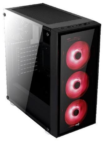 Корпус ATX Aerocool Quartz Red Без БП чёрный цена и фото