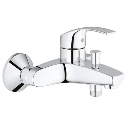 Смеситель для ванны GROHE EUROSMART NEW 33300002 хром однорычажный смеситель для ванны с душевой лейкой grohe eurosmart 33300002 для ванны с душем