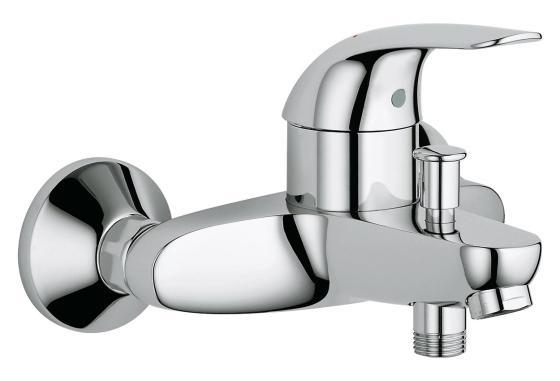 Смеситель для ванны с душем GROHE EUROECO 32743000 хром grohe смесительgrohe concetto 32214001 для ванны с душем