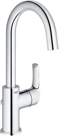 Смеситель для раковины GROHE EUROSMART NEW 23537002 с высоким изливом и донным клапаном L-size хро смеситель для раковины grohe costa l с донным клапаном 21342001