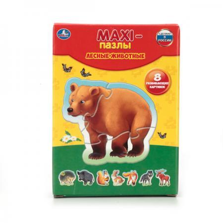 Пазл 8 элементов УМКА ЛЕСНЫЕ ЖИВОТНЫЕ 4690590110072 шнуровка умка лесные животные
