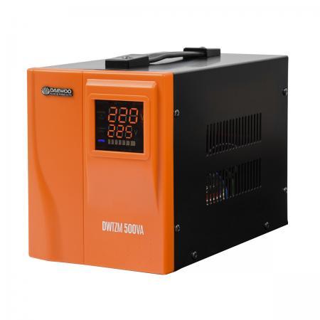 Стабилизатор напряжения DAEWOO DW-TZM500VA 500Вт 140-270В 20мс кпд 95% защита от кз/помех 1х220В стабилизатор напряжения настенный daewoo power products dw tm10kva
