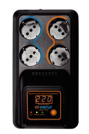 Купить Cтабилизатор ЭНЕРГИЯ 500 Люкс Е0101-0122 500 ВA Напряжение входа В 130 - 280 А 2.3, Энергия, Стабилизатор напряжения, черный