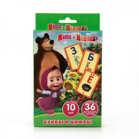 КАРТОЧКИ РАЗВИВАЮЩИЕ УМКА МАША И МЕДВЕДЬ.УЧИМ АЛФАВИТ И ЦИФРЫ (36 КАРТОЧЕК) В КОР. в кор.50шт карточки развивающие умка лунтик учим алфавит и цифры 36 карточек в кор в кор 50шт