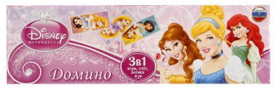 Настольная игра домино УМКА Принцессы настольная игра эврики аквамозаика принцессы 2933734